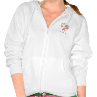 Patchwork Inspired Plaid Apple Teacher Hooded Pullovers