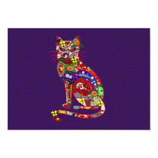 Patchwork Kitty Card