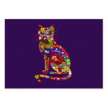 Patchwork Kitty Large Business Cards (Pack Of 100)