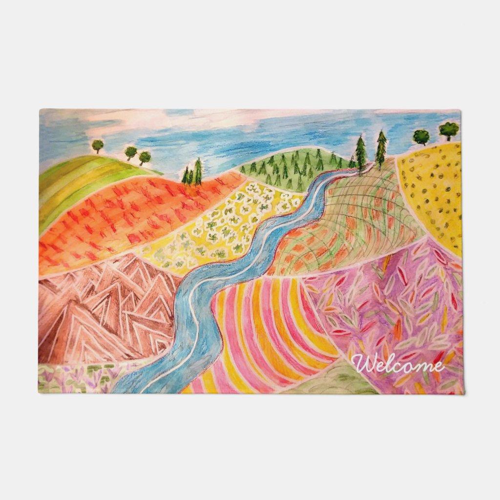 Patchwork Landscape Doormat
