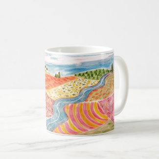 Patchwork Landscape Mug