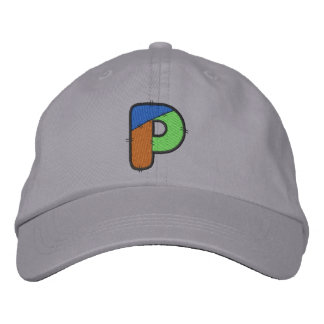 Patchwork Letter P Embroidered Hats