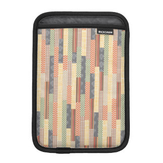 Patchwork Lines Sleeve For iPad Mini