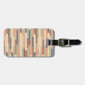 Patchwork Lines Tag For Luggage