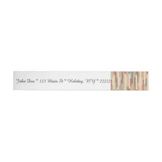 Patchwork Lines Wrap Around Address Label