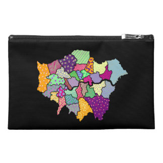 Patchwork London Travel Accessory Bags