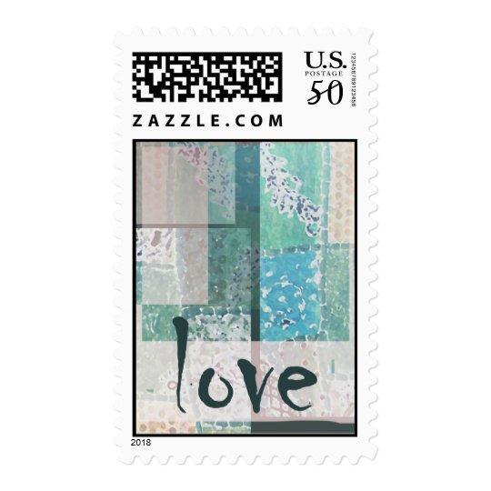 Patchwork love postage
