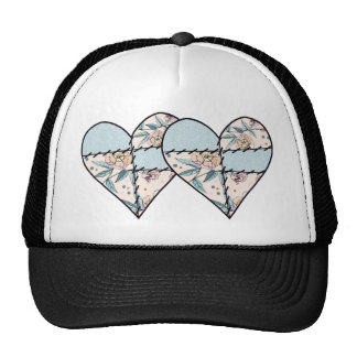 Patchwork LoveHeart Mesh Hat