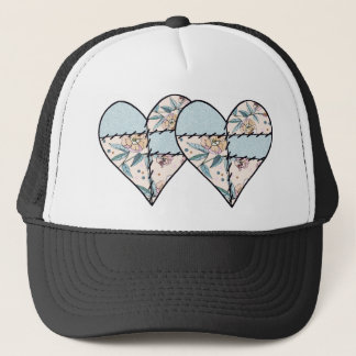Patchwork LoveHeart Trucker Hat