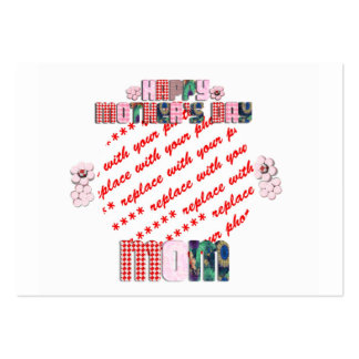 Patchwork 'Mom'  Mother's Day Photo Frame Business Cards