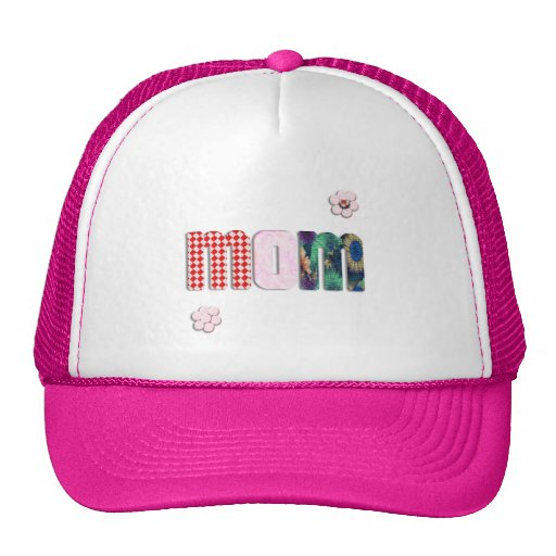 Patchwork 'MOM' on Blank (Add Any Color) Hat