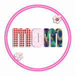 Patchwork 'MOM' on Blank (Add Any Color) Photo Cutout