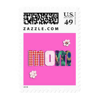 Patchwork 'MOM' on Blank (Add Any Color) Stamps