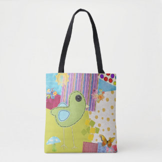 Patchwork Multi-Color Tote School Work Work Out