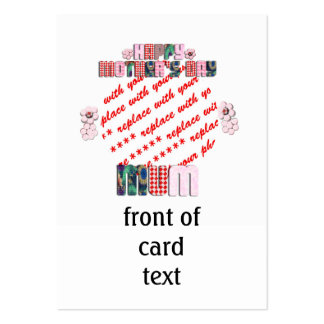 Patchwork 'MUM' Happy Mother's Day Photo Frame Business Card Template