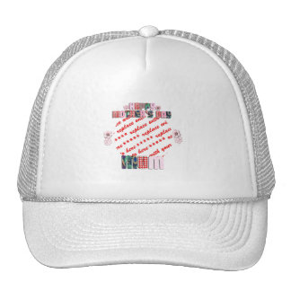 Patchwork 'MUM' Happy Mother's Day Photo Frame Mesh Hats