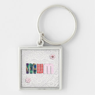Patchwork MUM on Lace Keychains