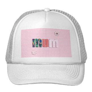 Patchwork 'MUM'  on Pink Checkerboard Hat