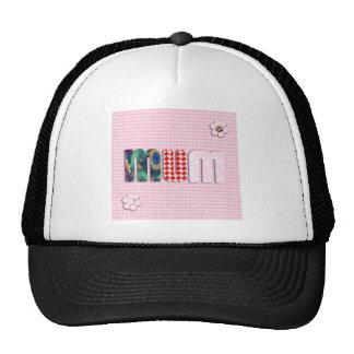 Patchwork 'MUM'  on Pink Checkerboard Trucker Hats