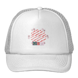 Patchwork 'MUM'  Photo Frame Mesh Hat