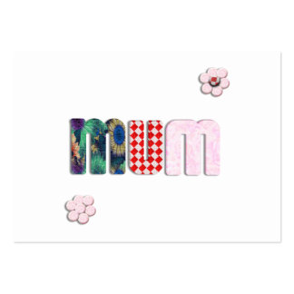 Patchwork 'MUM'  Text Design Large Business Cards (Pack Of 100)
