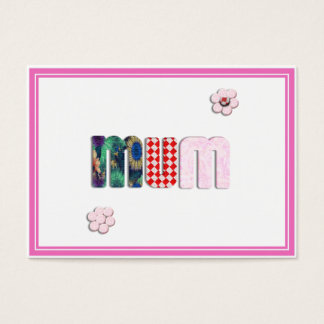 Patchwork 'MUM'  Text Design Business Card