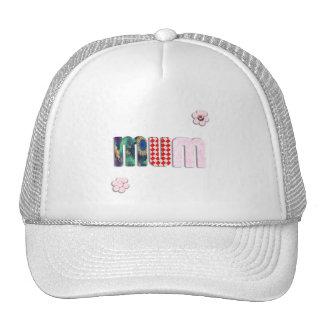 Patchwork 'MUM'  Text Design Trucker Hats