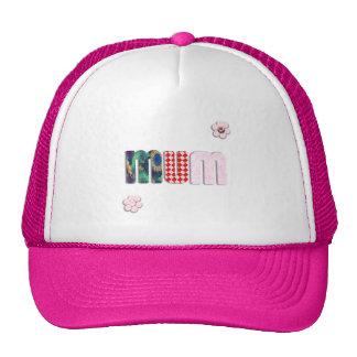 Patchwork 'MUM'  Text Design Hats