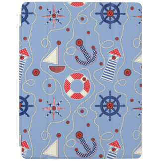 Patchwork Nautical Design iPad Smart Cover