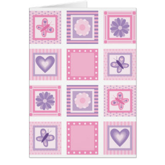 Patchwork New Baby Girl Card