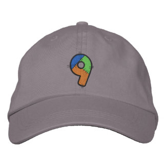 Patchwork Number 9 Embroidered Baseball Hat