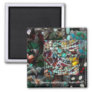 Patchwork of Beads Gift Range 2 Inch Square Magnet