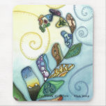 Patchwork of Life Fern Mousepads