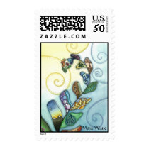 Patchwork of Life Fern Postage