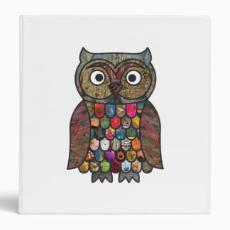 Patchwork Owl 3 Ring Binder