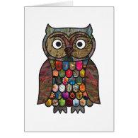 Patchwork Owl Card