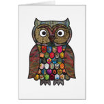 Patchwork Owl Card