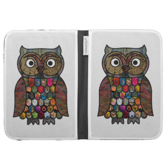 Patchwork Owl Kindle 3 Covers