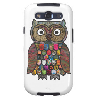 Patchwork Owl Galaxy S3 Cover