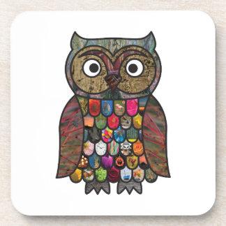 Patchwork Owl Coaster