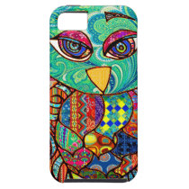 Patchwork owl collage iPhone SE/5/5s case