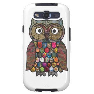 Patchwork Owl Galaxy SIII Case