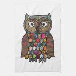 Patchwork Owl Hand Towel