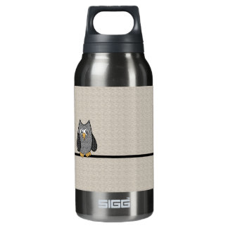 Patchwork Owl Insulated Water Bottle