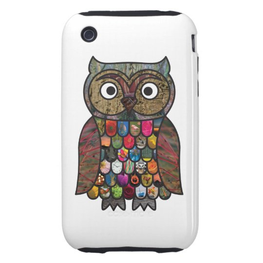 Patchwork Owl iPhone 3 Tough Cover