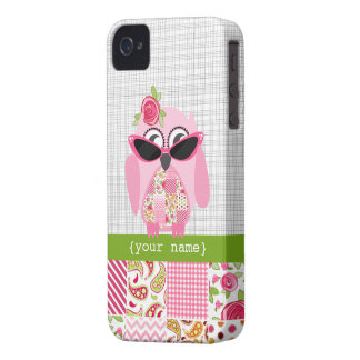 Patchwork Owl iPhone 4 Case-Mate Barely There™