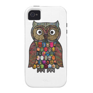 Patchwork Owl iPhone 4 Cases