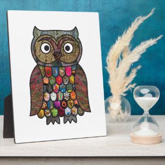 Patchwork Owl Plaques