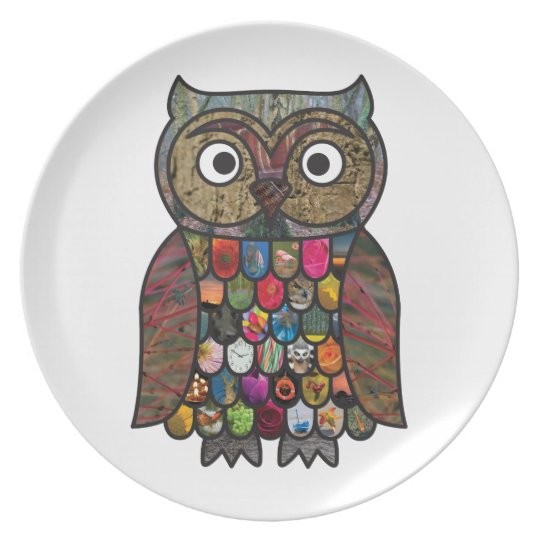 Patchwork Owl Plate