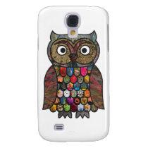 Patchwork Owl Samsung Galaxy S4 Case